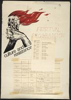 Culture and resistance : festival programme
