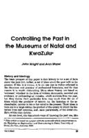 Controlling the past in the museums of Natal and KwaZulu
