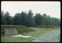 Bergen-Belsen Concentration Camp : Row of mass graves dug after liberation in 1945