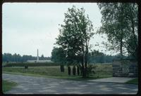 Bergen-Belsen Concentration Camp : Commemorative Wall and Obelisk from Camp Sign (stone)