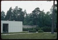 Bergen-Belsen Concentration Camp : Site Documentation Center from tourist parking lot