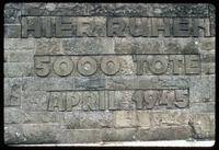 Bergen-Belsen Concentration Camp : Close-up of another mass grave stone