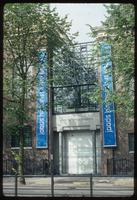 Portuguese Synagogue (Amsterdam, Netherlands) : Synagogue site architecture with exhibition banners