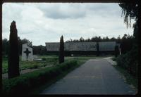 Chelmno Concentration Camp : Main site memorial as seen from entry walk