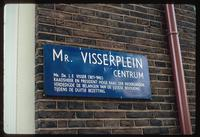 Portuguese Synagogue (Amsterdam, Netherlands) : Visserplein site identification sign with dedication
