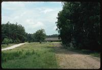Chelmno Concentration Camp : View of Main Camp Memorial from visitors' parking lot