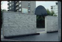 Umschlagplatz Memorial (Warsaw, Poland) : Interior view of the memorial through the entry gate