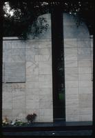 Umschlagplatz Memorial (Warsaw, Poland) : Slit in the back wall symbolizing a spiritual journey and death