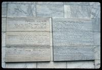 Umschlagplatz Memorial (Warsaw, Poland) : Commemorative inscription on the back interior wall