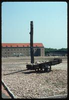 Buchenwald Concentration Camp : Work wagon in the roll call yard
