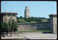 Buchenwald Concentration Camp : Main camp memorial in background