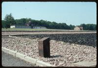 Buchenwald Concentration Camp : View from main camp gate to barracks locations