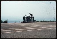 Buchenwald Concentration Camp : View of surrounding landscape from behind main sculpture