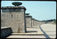 Buchenwald Concentration Camp : Stelae commemoration of inmates' nations