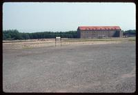 Buchenwald Concentration Camp : View across roll call yard to restored administration offices
