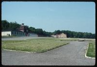 Buchenwald Concentration Camp : View from the crematorium toward the camp main gate