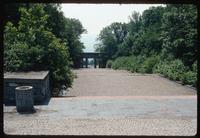 Buchenwald Concentration Camp : Entry point to camp memorial from adjacent camp site