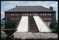 Neuengamme Concentration Camp : Ramp for bringing sand and gravel to processing plant