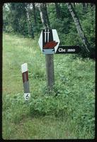 Chelmno Concentration Camp : Road sign directing tourists to the Camp Site