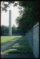 Neuengamme Concentration Camp : View along the commemoration wall