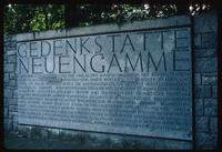 Neuengamme Concentration Camp : Entry sign identifying camp