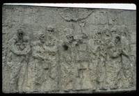 Chelmno Concentration Camp : Bas-relief detail on central memorial mass