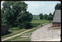 Neuengamme Concentration Camp : View to surrounding farmscape from factory ramp