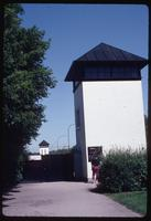 Dachau Concentration Camp : Guard tower near main camp entry gate