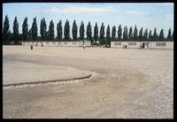 Dachau Concentration Camp : Barracks yard from sculpture