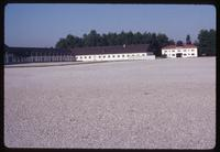 Dachau Concentration Camp : View from current visitor entry gate to old main camp gate