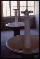 Dachau Concentration Camp : Barracks washing basins