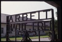 Dachau Concentration Camp : Main camp gate with inscription