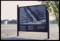 Dachau Concentration Camp : Nazi period photograph of barracks area