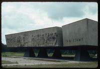 Chelmno Concentration Camp : Closer view of memorial surface bas-relief