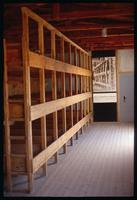 Dachau Concentration Camp : Rebuilt inmates beds in restored barracks building