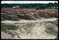 Belzec Concentration Camp : Close-up of lumber storage