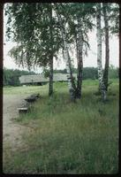Chelmno Concentration Camp : View to main memorial back along axis to crematorium