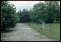 Belzec Concentration Camp : View from main entry to memorials along camp rail siding