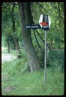 Belzec Concentration Camp : Polish road sign for a World War II Memorial