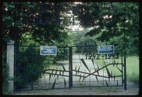 Belzec Concentration Camp : Close-up of tourist entry gate to site