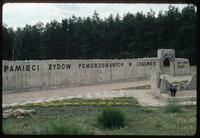 Chelmno Concentration Camp : Second commemorative wall element to Jewish victims