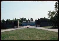 Sachsenhausen Concentration Camp : Main gate from barracks area