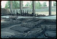 Sachsenhausen Concentration Camp : Close-up of the crematorium foundations
