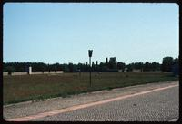 Sachsenhausen Concentration Camp : Camp wall and barracks area