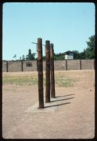 Sachsenhausen Concentration Camp : Torture poles in roll call yard