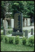 Weissensee Cemetery (Berlin, Germany) : Rear of Herbert Baum stone