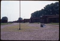 Majdanek Concentration Camp : Roll call yard and line of barracks