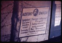 Majdanek Concentration Camp : Nazi period warning sign