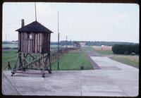 Majdanek Concentration Camp : View line from ashes memorial to main camp memorial