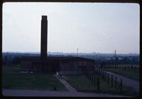 Majdanek Concentration Camp : Camp crematorium with city of Lublin in the background